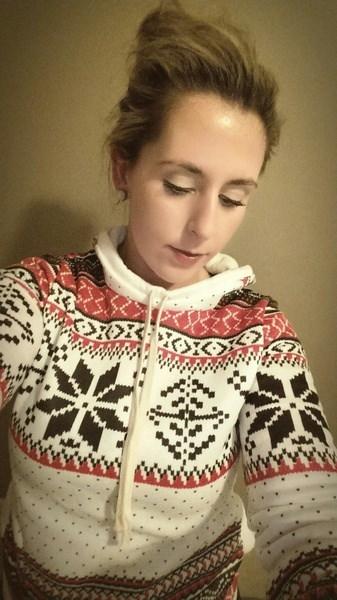 女性レディースロングセータープルオーバートップフード付きスエットシャツジャンパーコート