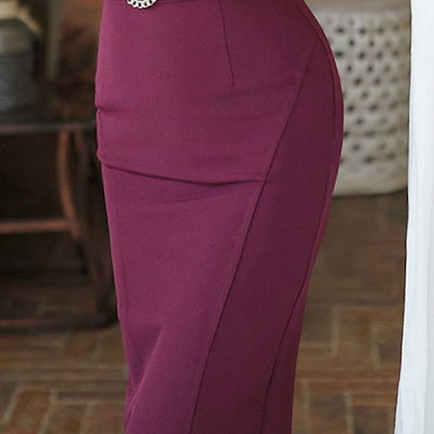 パーティードレス 結婚式 二次会 ワンピース 結婚式ドレス お呼ばれワンピース 20代 30代 40代 袖あり ひざ丈 紫