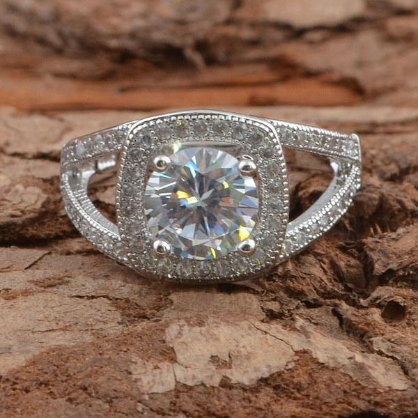 ロマンチックなホワイトトパーズCZダイヤモンドリング新しいトレンディなジュエリー925スターリングシルバーリング