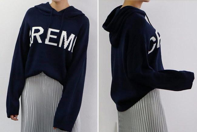 ★送料無料★レタリング プルオーバー フードニット レディース 韓国ファッション ワンピース Tシャツ ブラウス カーディガン ルームウェア セットアップ トレーナー バッグ リュック パーカー