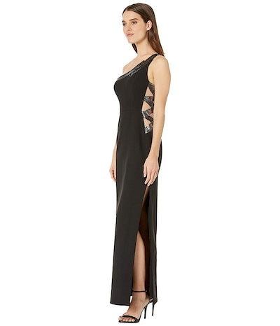 ビーシービージーマックスアズリア レディース ワンピース トップス One Shoulder Gown with Sequin Details