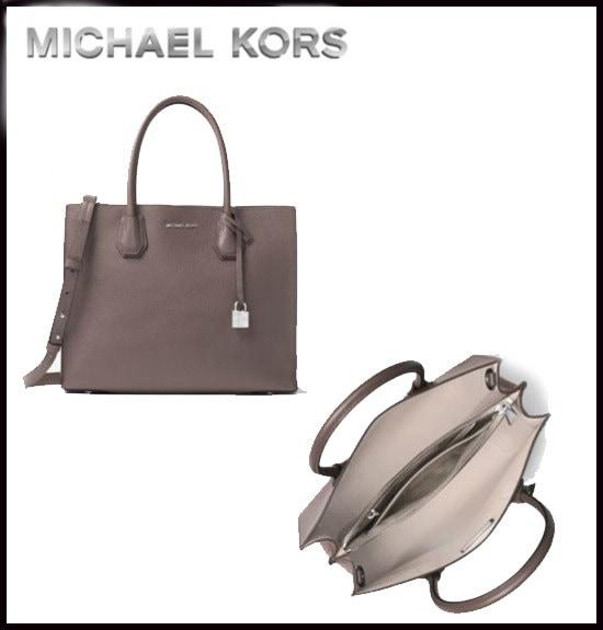 MICHAEL KORS★MERCER LARGE BONDED-LEATHER TOTE  【ご予約商品】 3日~7日間前後でのご発送予定です。