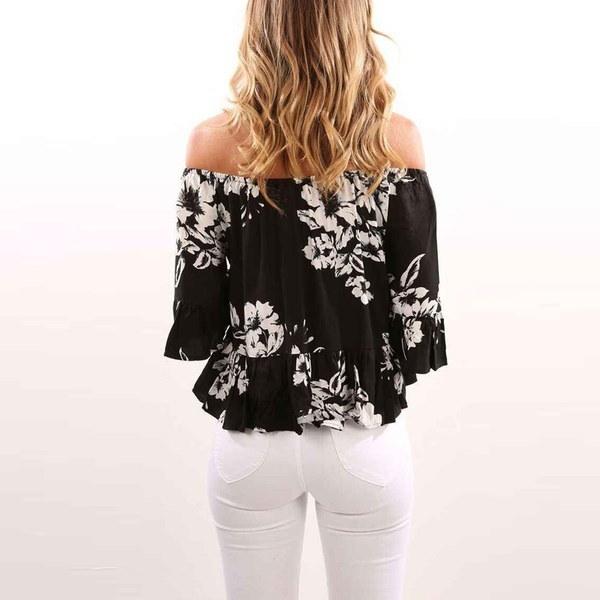 Hot Women s Sexy Short Sleeve Off Shoulder Tops Loose Shirt