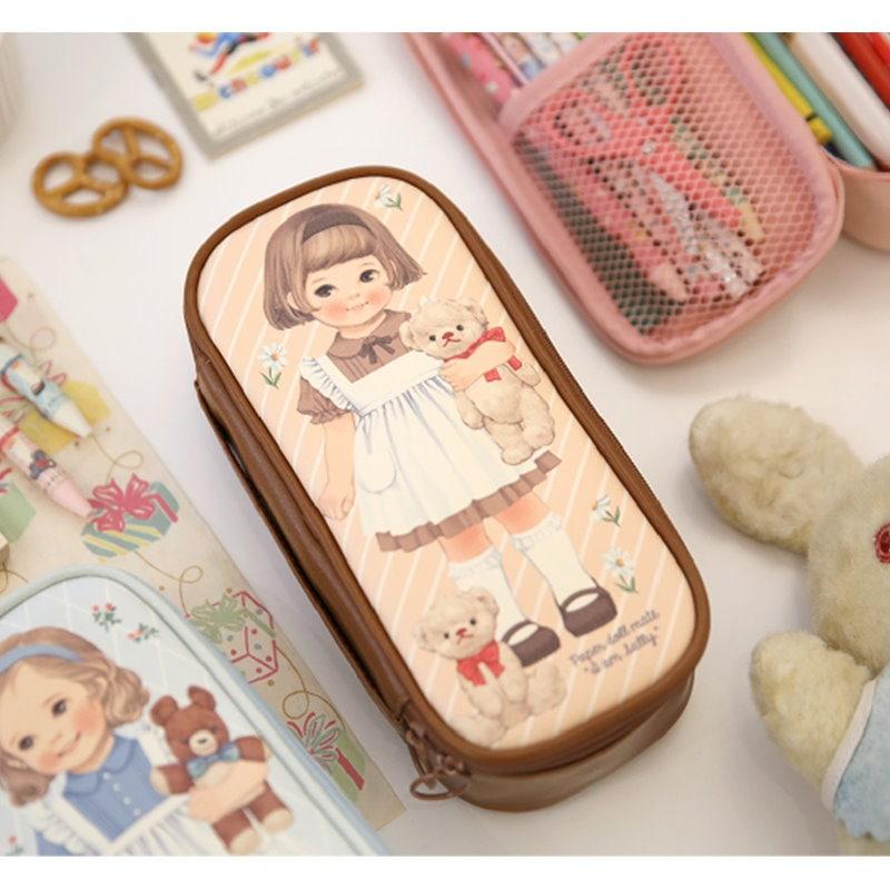 Afrocatロール紙メイトより良い美容ポーチP化粧品メイクアップペンシルケースバッグ[韓国製]