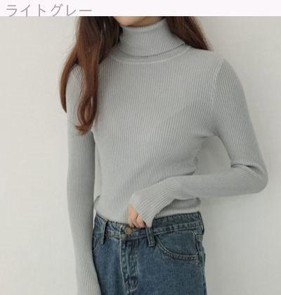 [55555SHOP]秋と冬/韓国風/レジャー/何でも似合う/ハイネック/ヘッジ/シャツ/トップス/女/着やせ/着やせ/ニッティング/ボトムシャツ/長袖のセーター