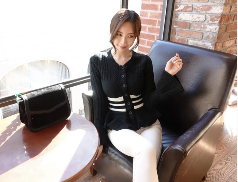 [55555SHOP]秋 冬 新ファッションカシミアタッチニットプルオーバー/長袖/トップス/レディース/ミリアンデニ