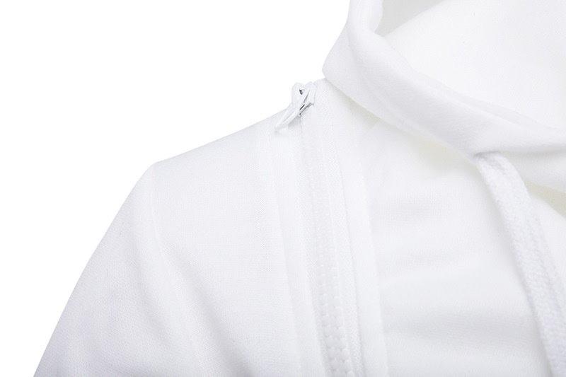 メンズファッションNew Winter Hoodedダブルジッパー斜めジッパーパーソナリティロングスリーブセーターCasu