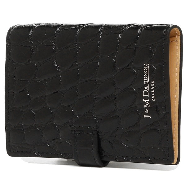 J&M DAVIDSON カードケース ジェイアンドエムデヴィッドソン 7528 7267 9990 VISIT CARD HOLDER MOCK CROC 名刺入れ BLACK