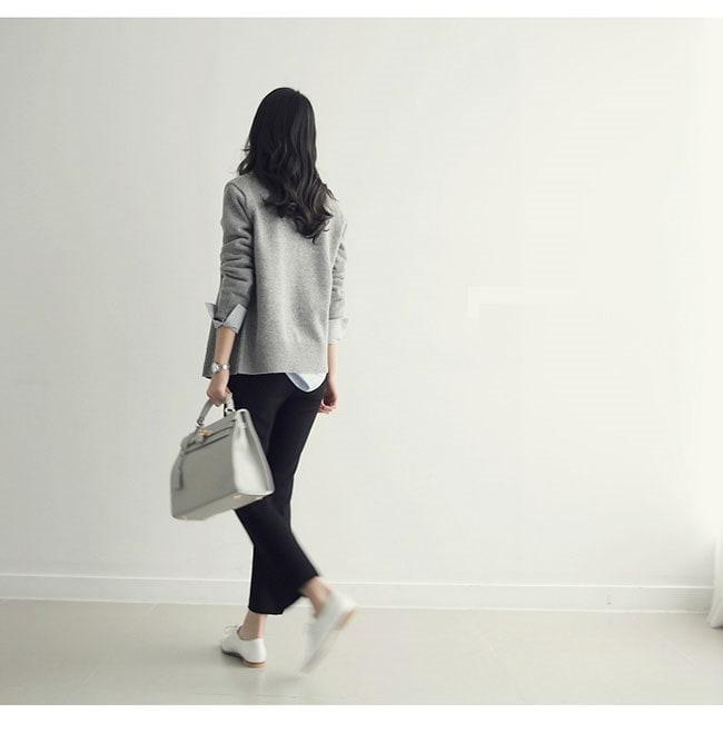 レディースファッション 女性 トップス プルオーバー ニット素材 セーター Vネック インナー カットソー きれいめ 通勤 グレー ブラック グレー ホワイト カーディガン OL 上品な素材 無地