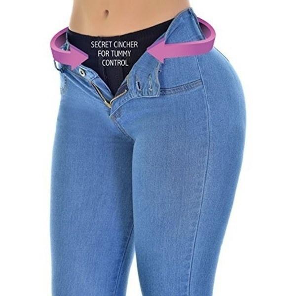 2017秋ファッション女性セクシーなレギンスストレッチスキニーレッグパンツソリッドカラーバットジーンズスリムを持ち上げる