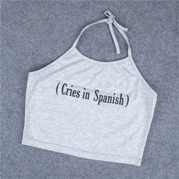 新しいファッション女性の叫びスペインの作物のトップス弾性タンクトップカジュアルストラップのベスト