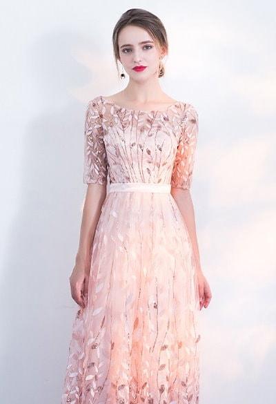 パーティードレス 結婚式 二次会 ワンピース ドレス 結婚式 お呼ばれ お呼ばれドレス 20代 30代 40代 袖あり
