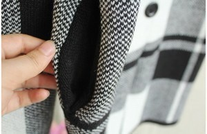 国内発送★スタイリッシュなチェスターコート??チェック柄アウター ジャケット コート全3色レディース 長袖 大きいサイズ
