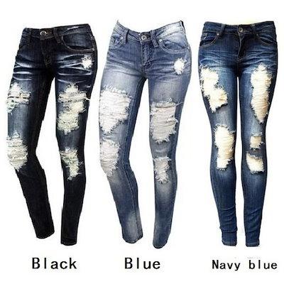 S - XXLレディースファッションスキニーリップジーンズ新しいファッション女性バガンパンツボーイフレンドDemin Biker Jeans