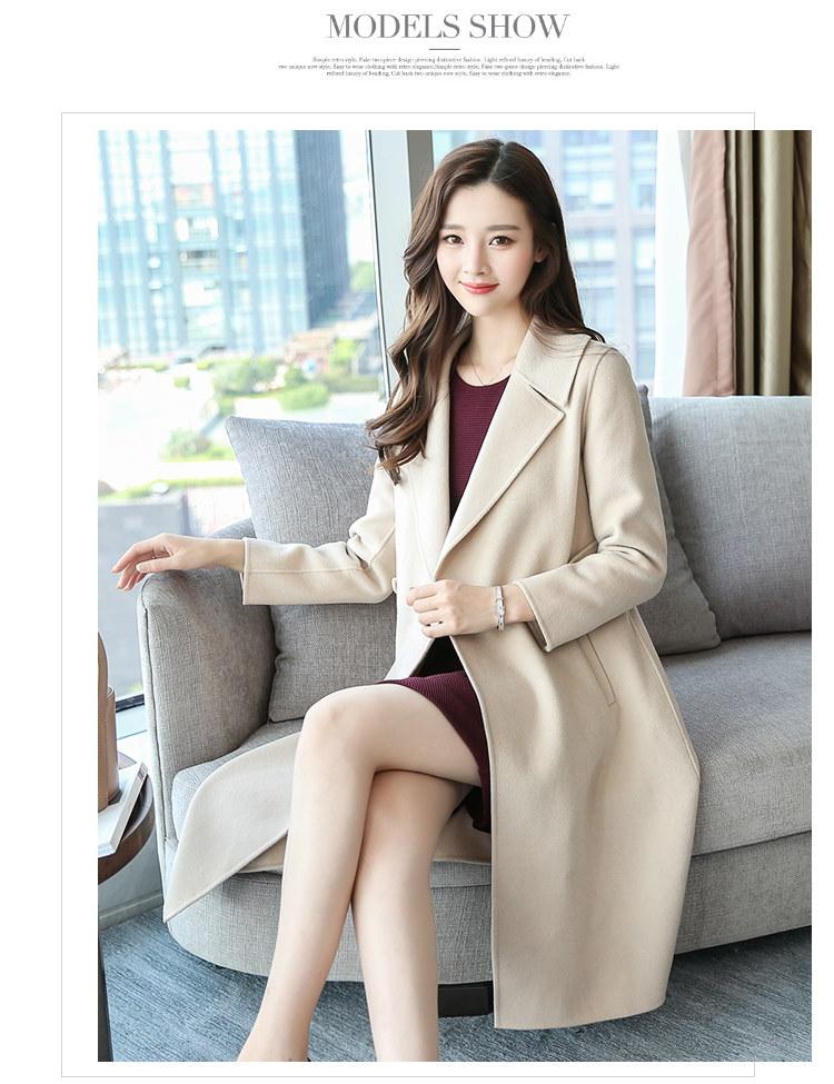 ★ ポベントゥ 手作りのロングコート / おしゃれなシルエットのファッションコーデー提案!ハイクォリティー/韓国ファッション/オフィスルッ