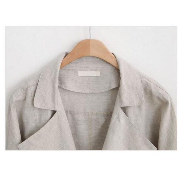 ジャケット アウター テーラード ブレザー 長袖 コットン リネン 長袖ジャケット 無地 シンプル ロールアップ 襟付き オフィス 普段着 ポケット付 キレイ 好印象