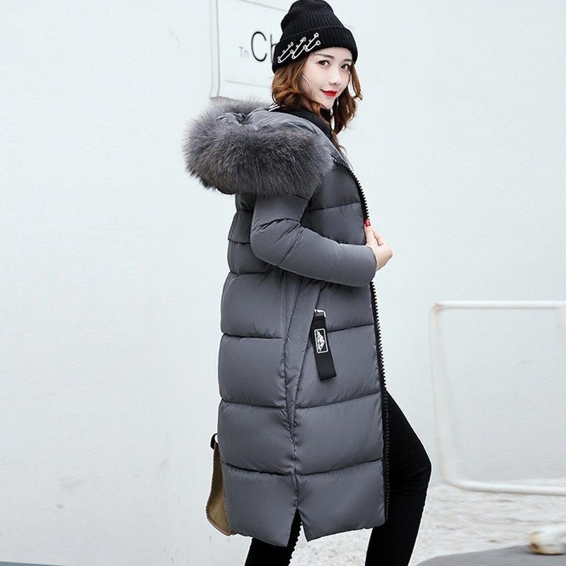 暖かいファッション秋と冬フェイクファーパーカーパーカー女性ロングウォームコート女性ジャックダウンジャック