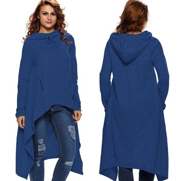 厚手の襟のコットンのTシャツ女性の衣服長袖の長袖の不規則なファッション