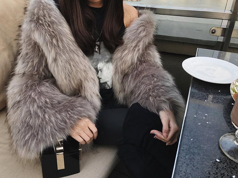 s6 最高級  人工フォックス  人気 毛皮  ファー  コート  暖かい