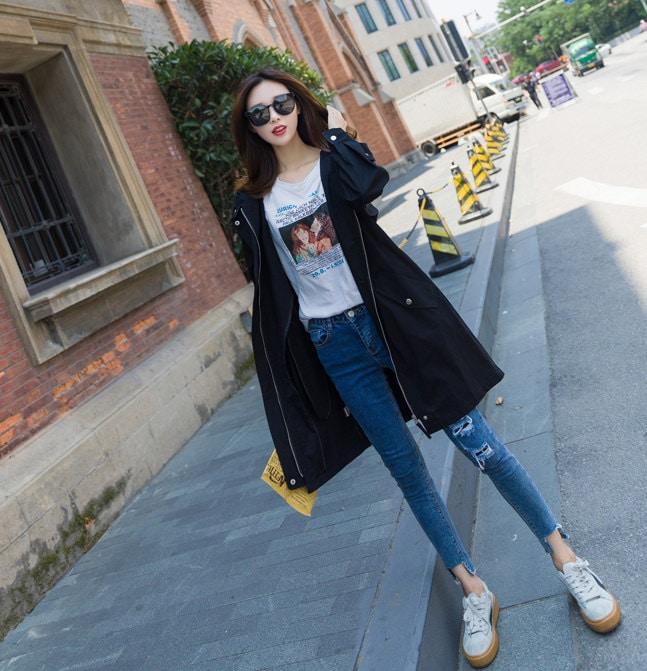 【送料無料】韓国ファッション 人気 新型 ZAKKA 2016 韓国ファッション コート トレンチコート ブラウス コート レディース ロングコート 韓国 コート レディース服 モッズコート
