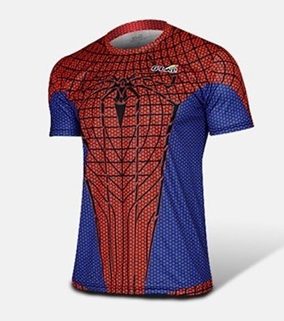 004,Men Women T-shirts Fashion Brand Casual Men Clothing Plus Size Short Sleeve Superman Spiderman V