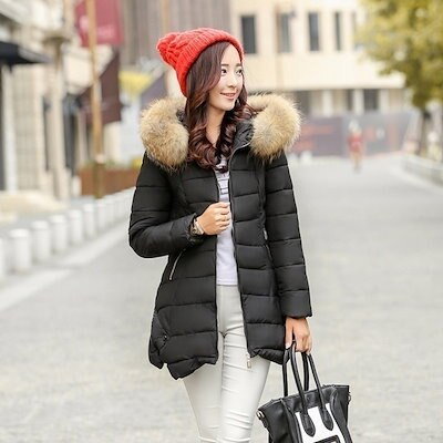 In the winter of 2015 new women s cotton slim in the long coat female Korean version of A large size women jacket jacket