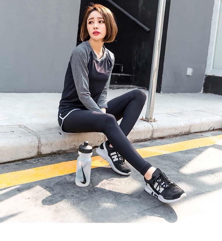 【選べるレディーススポーツウェア3点セット】上下 トレーニングウェア ジムウェア ヨガウェア ランニングウェア フィットネス 韓国ファッション 速乾 吸汗 長袖 ショートパンツ付きレギンス スポーツブ