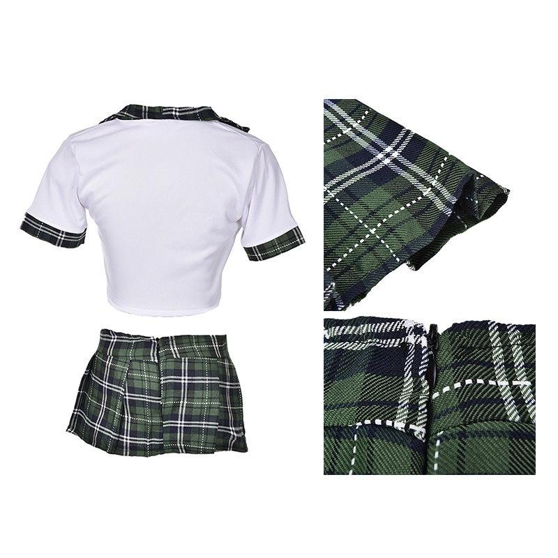女性セクシーなランジェリーハロウィンスクールガール制服ドレスコスチューム衣装CB 3C