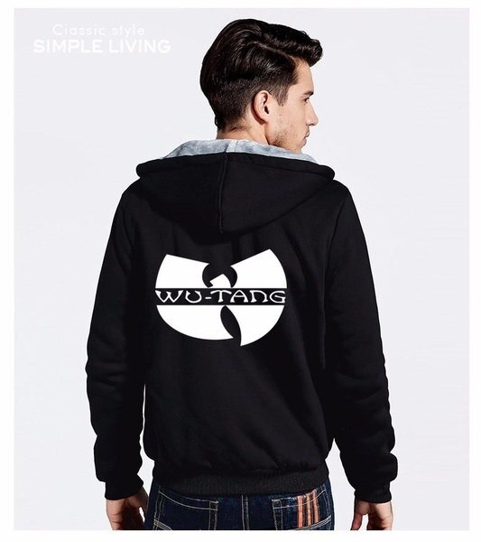 WU TANG Hip Hop Skateboard Streetwear Printed Mens Men Hoodies  Manga Thicken Fleece Zipper Tops
