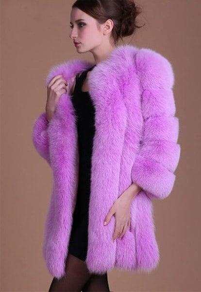 女性ロングフォックスフォックスファーウィンターコートジャケットウォームパーカアウトレット厚手オーバーコートトップ