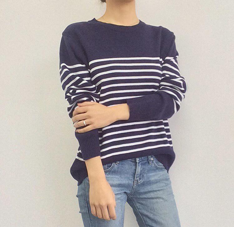 【la select】韓国 正規品 最新作 ボーダー  ニット セーター  [白/F][紺/F][赤/F][ベージュ/F]