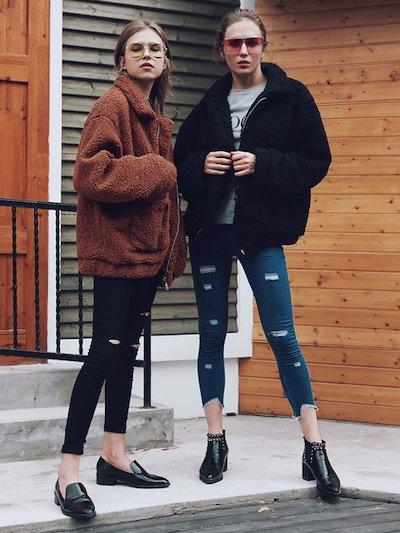 Plus Size Women s Fashioin Loose Coat 4 Colors Faux Fur Long Sleeve Warm Coat Fur Coat