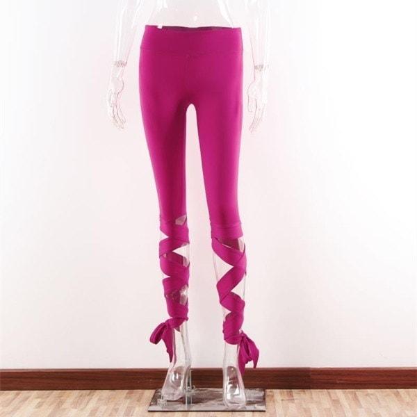 女性ヨガパンツスポーツレギンスフィットネスハイウエストバレエダンスタイツ包帯パンツSC0040