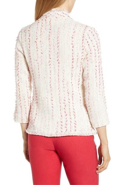 ニックプラスゾーイ レディース ジャケット・ブルゾン アウター NIC+ZOE Spring Fringe Tweed Jacket (Regular & Petite)