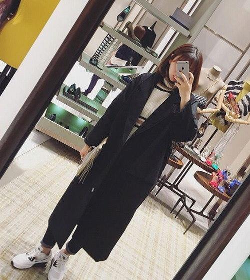 リチャオ2017秋 新しいデザイン/女性服/学院風 ゆったり ダッフル コート  7sept-cbi-9902【ca】アウター ジャケット ロング丈