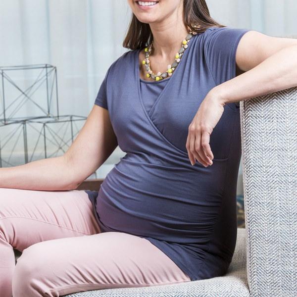 妊娠中の女性のためのマタニティ服授乳服授乳期のルーズなTシャツ