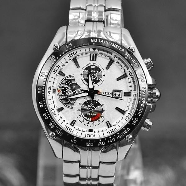CURREN brand sports Watch men Quartz Watches Auto Date Dress wristwatch military watches full steel