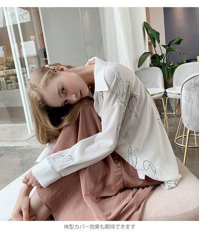 シャツ レディース とろみシャツ ドルマンシャツ 長袖 オーバーサイズ ゆったり ゆるシャツ 羽織れる 薄手 冷房対策 シンプル お洒落 カジュアル トップス 春新作