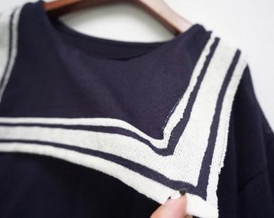 秋冬 ニット 長袖  可愛い  海軍風  海軍風のネクタイ ストライプ 韓国ファッション レデイースファッション オシャレ 柔らかな生地   通気  軽薄 学園 学院風 ホワイト ネイビー デート 旅行
