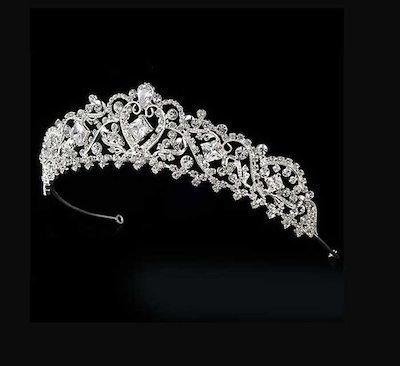 王冠 花嫁 ウェディング小物 ティアラ 結婚式 ヘアアクセサリー 頭飾り 髪飾り 婚礼用 水晶 ヘッドドレス 撮影 WTHHF05