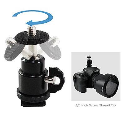 LimoStudioカメラアクセサリキットinHardshellCarryバッグ、onカメラバブルスピリットレベル、ホット靴カバープロテクター、Miniボールヘッド、ブラックカメラレンズクリーニング布