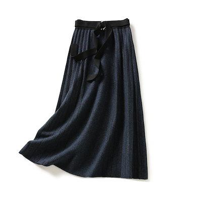 プリーツ スカート ミモレ丈 トレンド フレアスカート おしゃれ 大人きれい