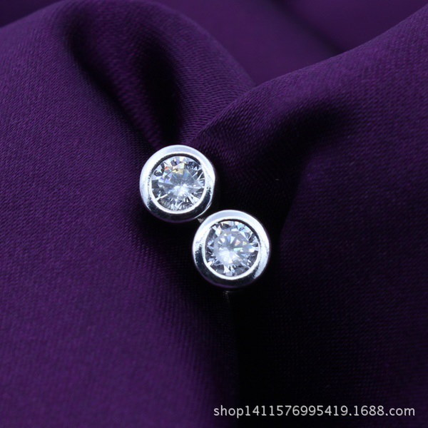 女性のファッションジュエリー925スターリングシルバーホワイトジルコンダングルピアス