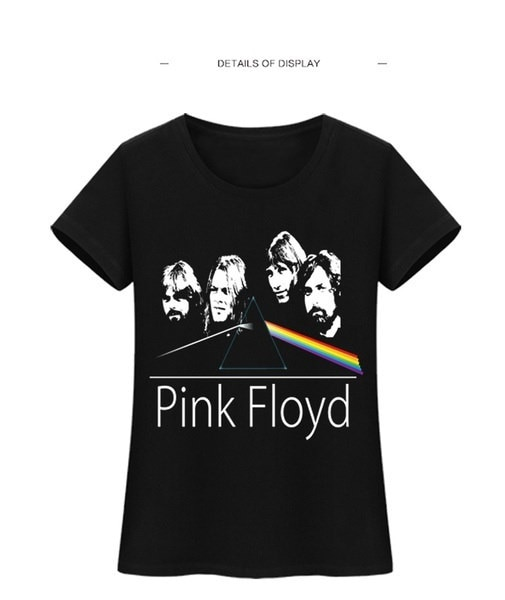Women Pink Floyd Print Tshirt Short Sleeves Cotton Plus Size Fashion Tops Tees