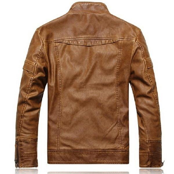 オートバイのレザージャケットの男性ジャケット・ド・クーロ・マスカリーナ・ボンバー・レザー・ジャケット・インヴェロ・クーロ・メンズS