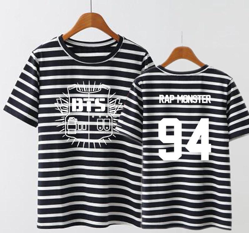 防弾少年団 BTS TEAM コンサート 応援服 T-shirts/ 半袖Tシャツ/パーカー/ トレーナー /ストライプ/ JUNG KOOK /SUGA /J-HOPE /V /JIMIN/女用