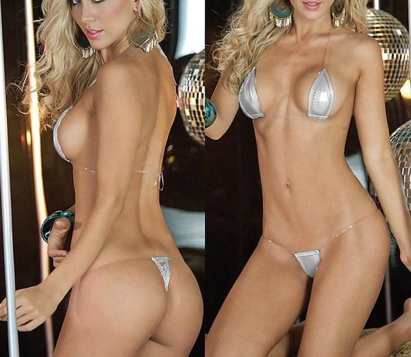 ランジェリー女性の水着ブラジルのエキゾチックなマイクロビキニのG弦の皮の水着