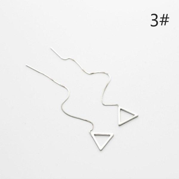 925シルバーメッキクリエイティブロングイヤリングタッセル幾何学的ロマンチック絶妙なジュエリー