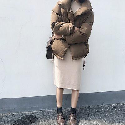 中綿コート レディース ジャケット 中綿 モッズコート 長袖 ショート丈 ゆったり 大きいサイズ アウター 軽量 厚手 無地  防寒 防風 冬服