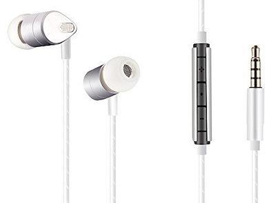 深い低音と高音質のバランスアーマチュアテクノロジーを備えたシルバーメタルインイヤーヘッドフォン